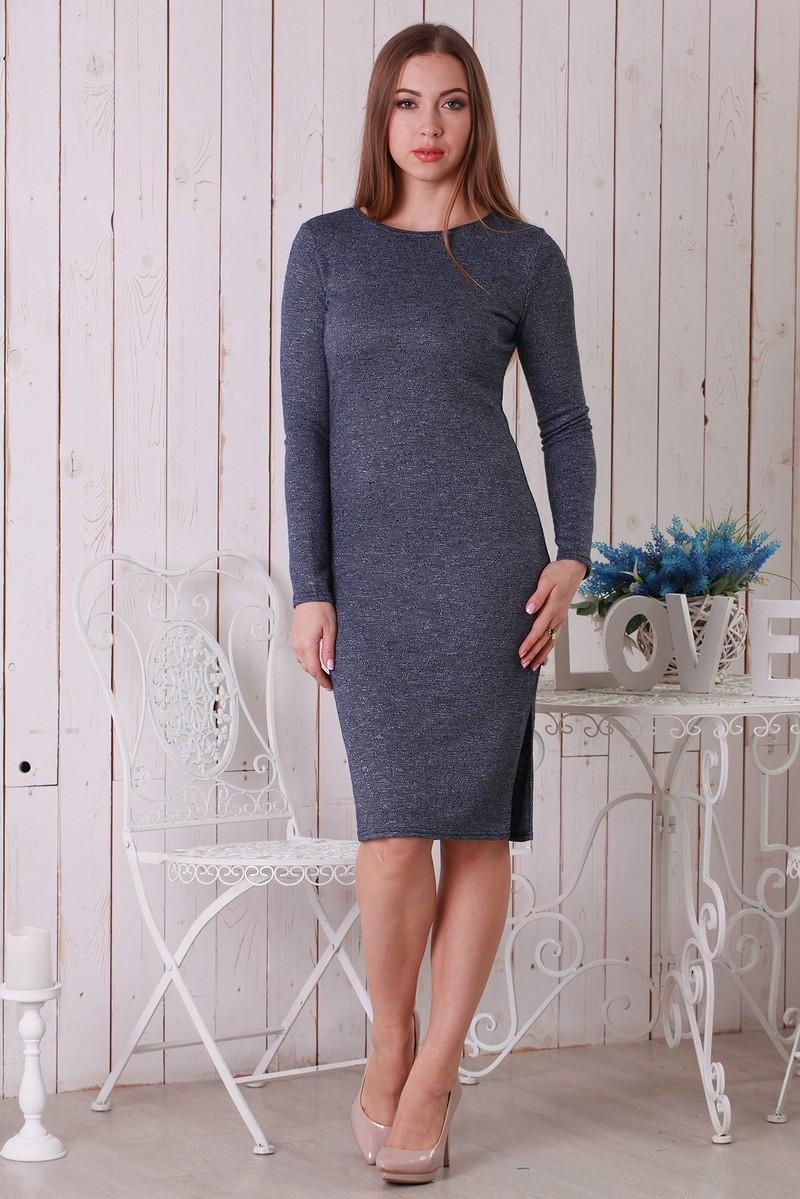 модные образы на 1 сентября 2018 платье классическое серое трикотажное