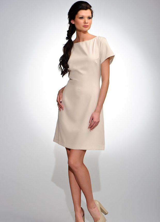 модные образы на 1 сентября 2019 платье классическое белое а-силует