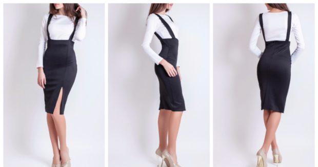 модные образы 1 сентября 2019 сарафан черный под блузку