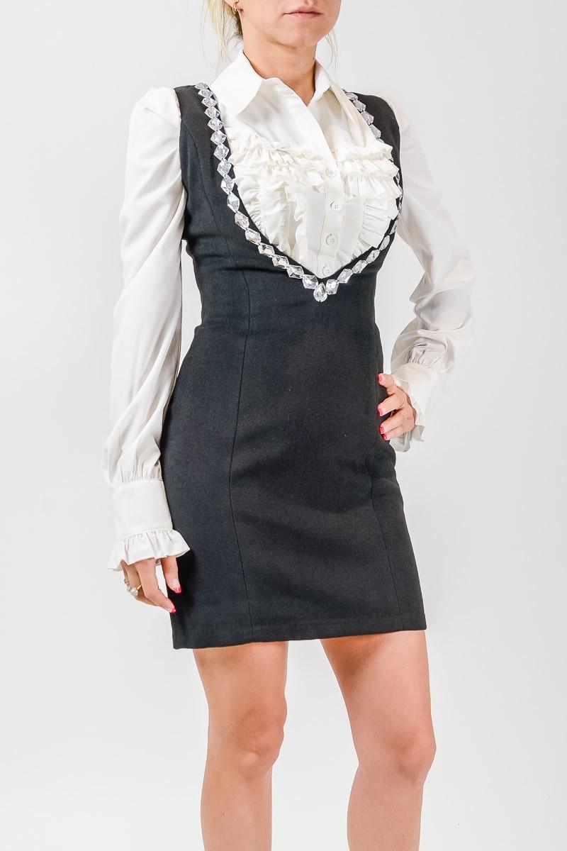 модные образы 1 сентября 2018 сарафан серый под блузку