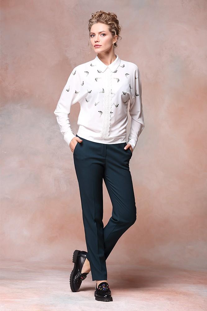 модные образы на 1 сентября 2018 брюки под блузку