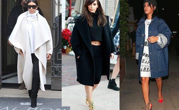 модные серые пальто 2019-2020 оверсайз белое черное
