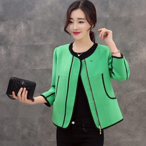 модное пальто осень зима 2017 2018 пальто короткое зеленое