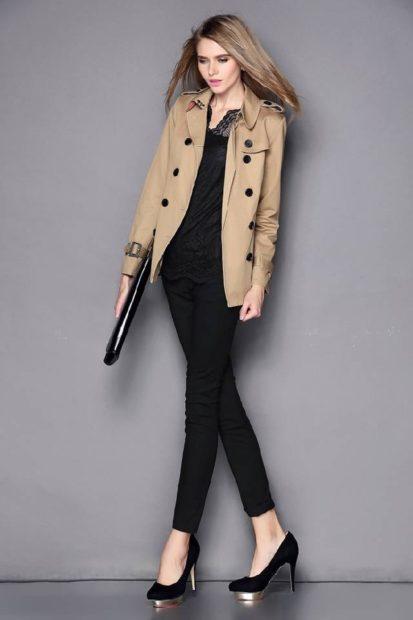 модное пальто осень зима 2017 2018 пальто короткое бежевое