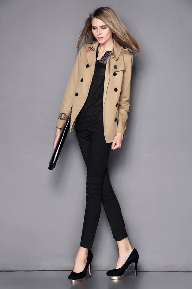 модное пальто осень зима 2018 2019 короткое бежевое