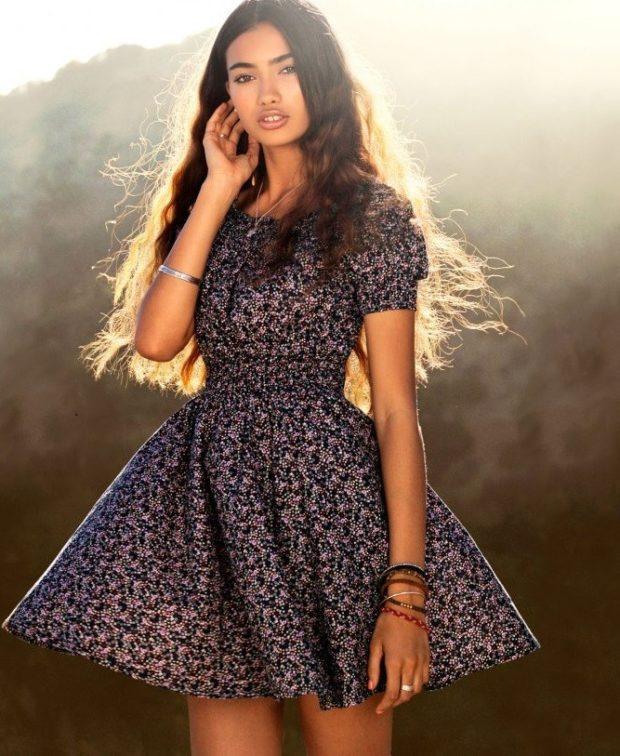 модные летние платья на каждый день: летнее легкое рукава фонарики