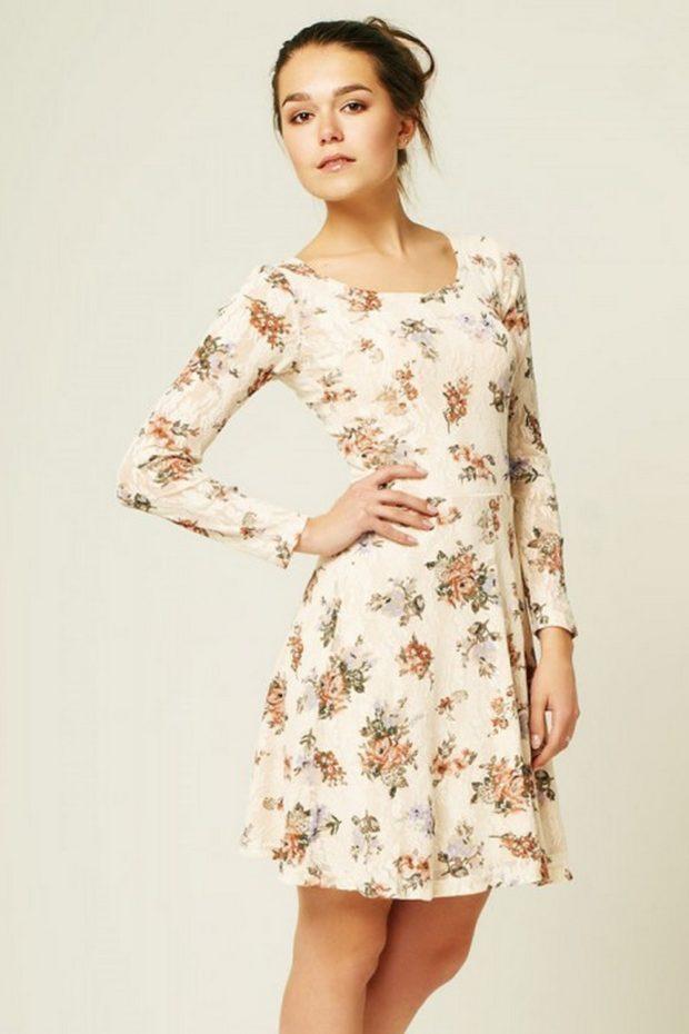 модные платья на каждый день: летнее белое короткое