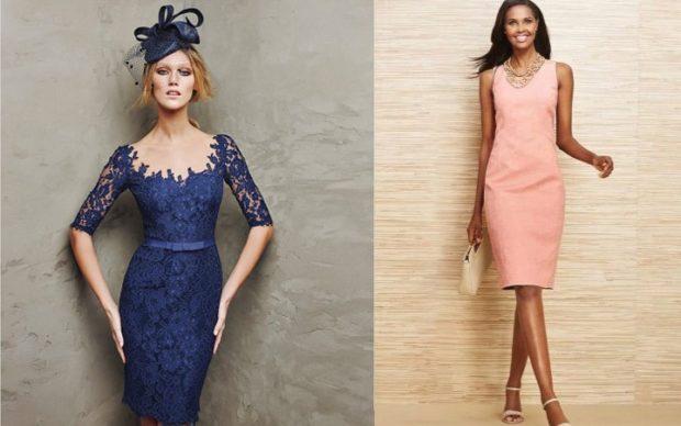 модные платья на каждый день 2018 синее розовое по фигуре