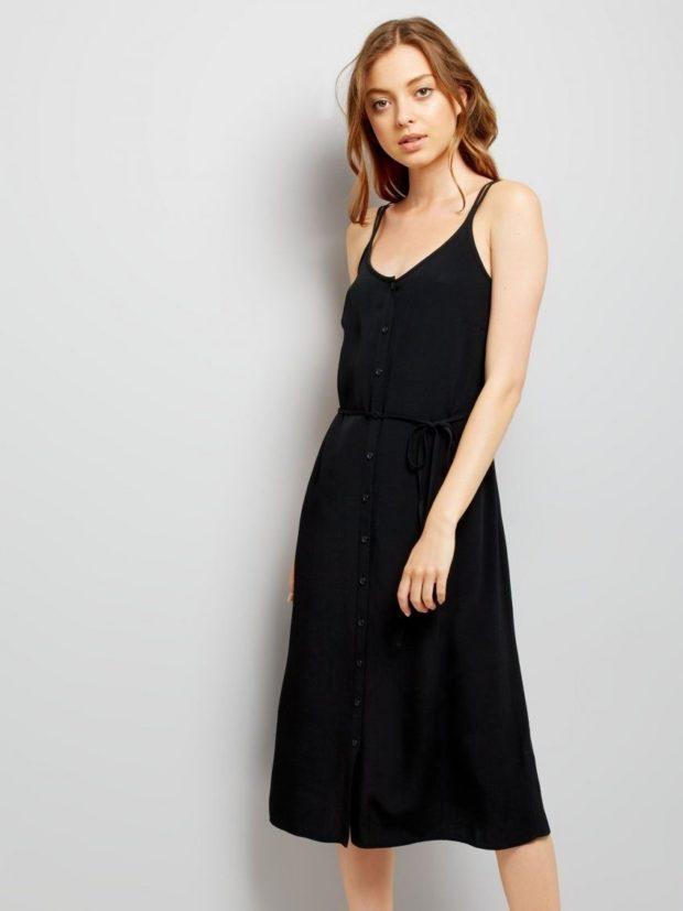 модные летние платья на каждый день: черное летнее