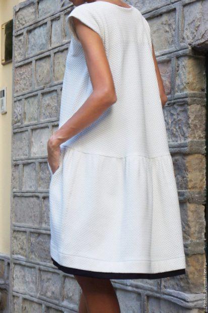 модные платья на каждый день 2018 белое свободное