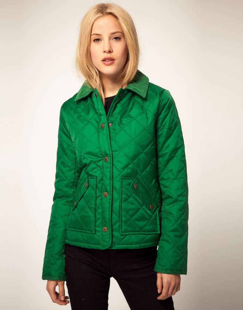 модные пуховики осень зима 2018 2019: куртка стеганая зеленая короткая
