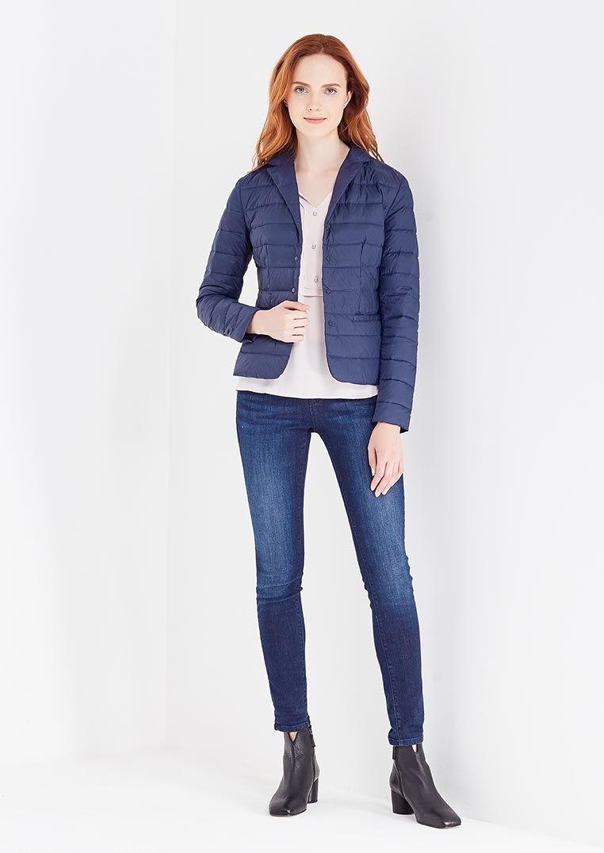 модные пуховики осень зима 2018 2019: куртка короткая синяя стеганая