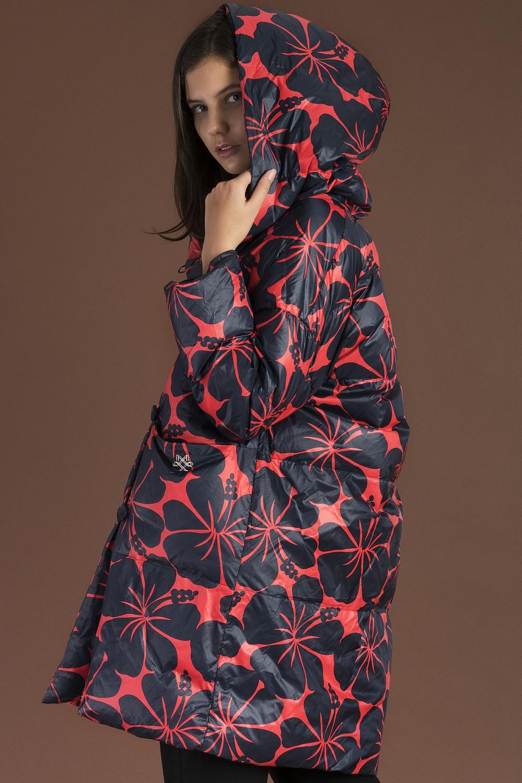 модные пуховики осень зима 2018 2019: куртка стеганая в цветы