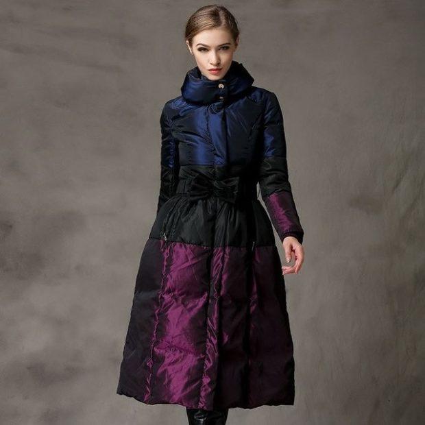 куртка-платье длина миди трехцветная