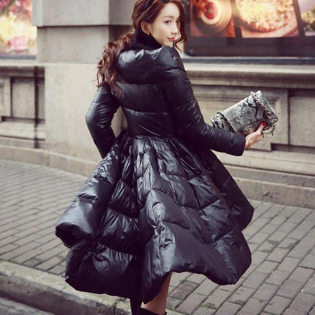 куртка-платье черная