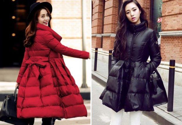 куртка-платье красная черная