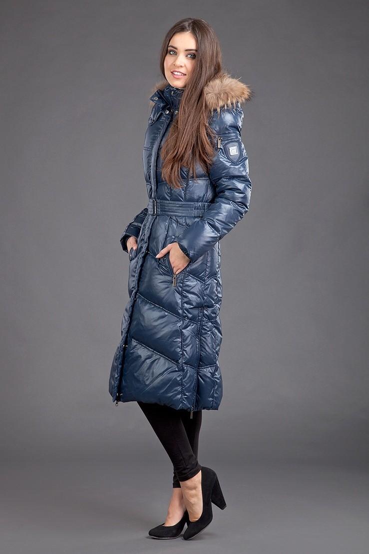 модные пуховики осень зима 2018 2019: пуховик длинный синий стеганый