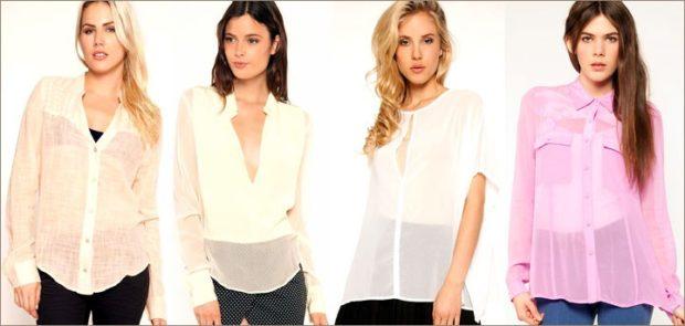 модные женские рубашки светлых оттенков