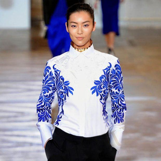 модные женские рубашки белая с вышивкой