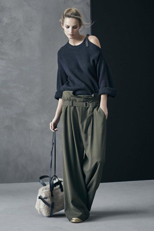 модные сеты 2019-2020 широкие штаны кофта