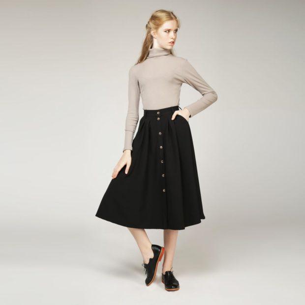 модный сет: юбка а-силуэт