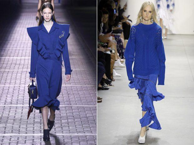 модные сеты: одежда холодно-синего цвета