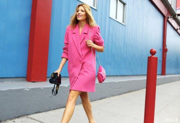 модные сеты: розовое платье-пиджак