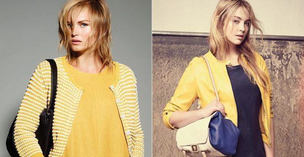 модные сеты: жакет желтый косуха желтая под черную блузку