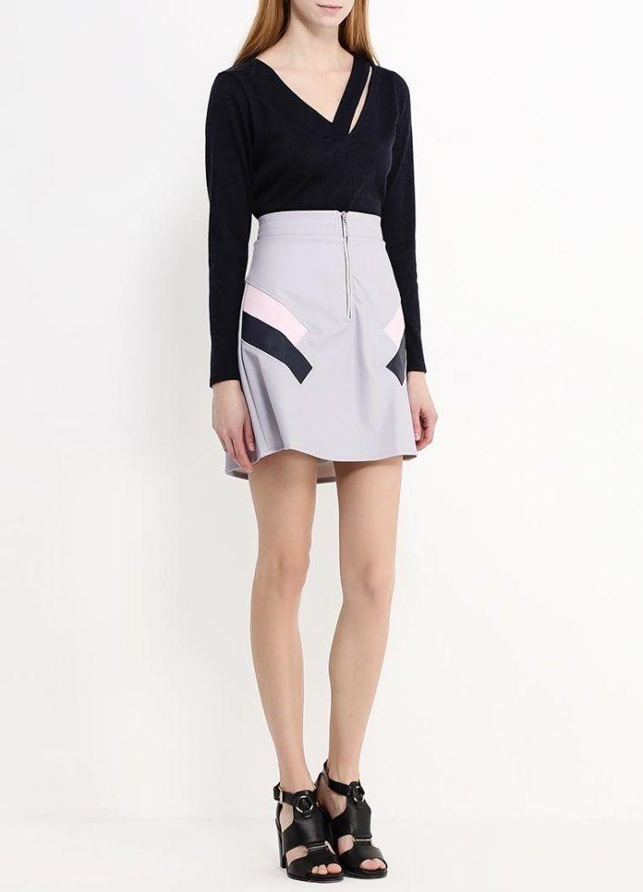 модный сет: юбка серая под черную кофту