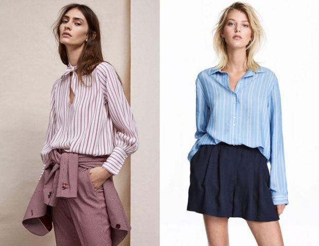 модный сет: полосатые блузки под брюки под юбку