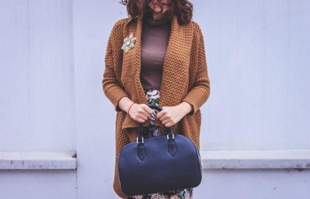 кардиган вязаный коричневый под юбку