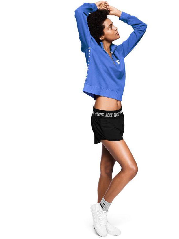 модные спортивные костюмы шорты черные синий верх
