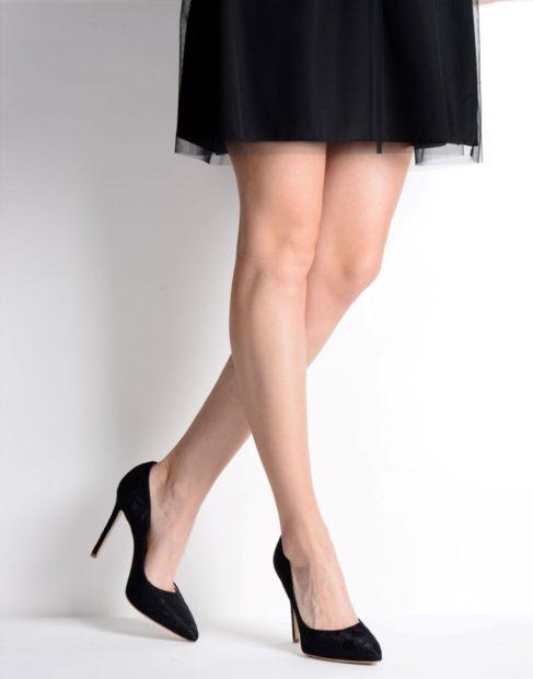 модные туфли 2018 черные классические на шпильке