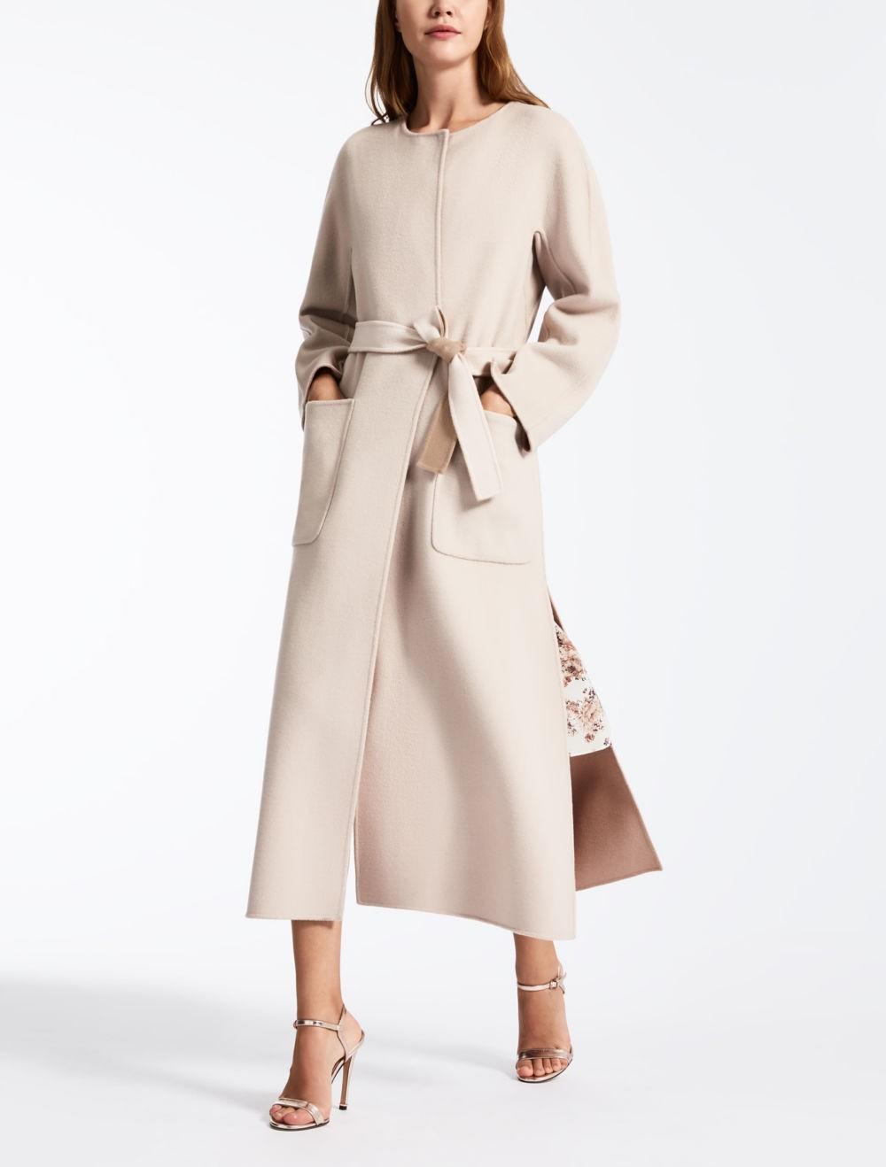 модное пальто осень зима 2018 2019 макси светлое под пояс