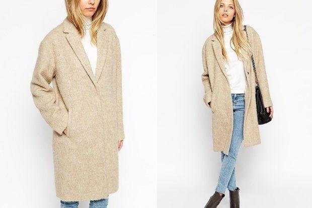 модное пальто осень-зима 2019-2020 оверсайз удлиненное светлое