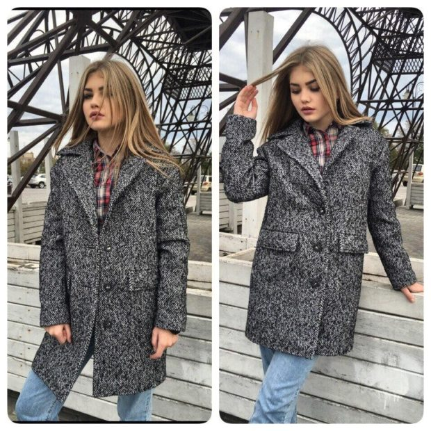 модное пальто осень-зима 2019-2020 оверсайз серое