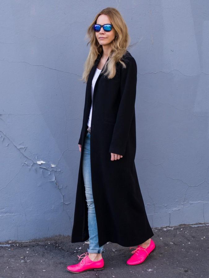 модное пальто осень зима 2018 2019 макси черное