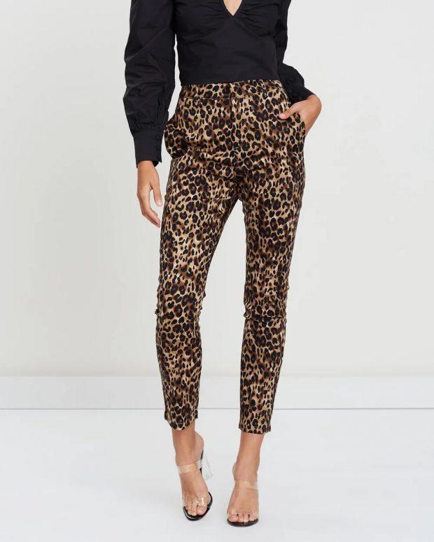 леопардовые скинни