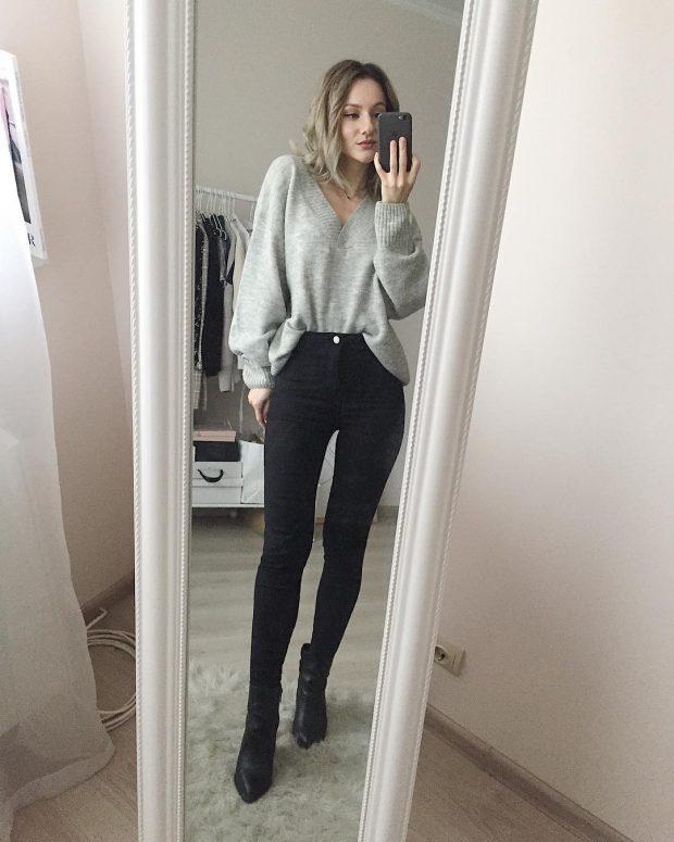 Модные цвета сезона осень зима 2019-2020: черно-серый