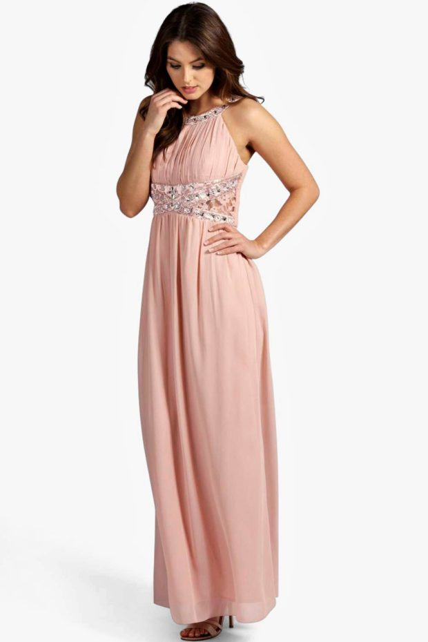 выпускное платье: розовое греческое