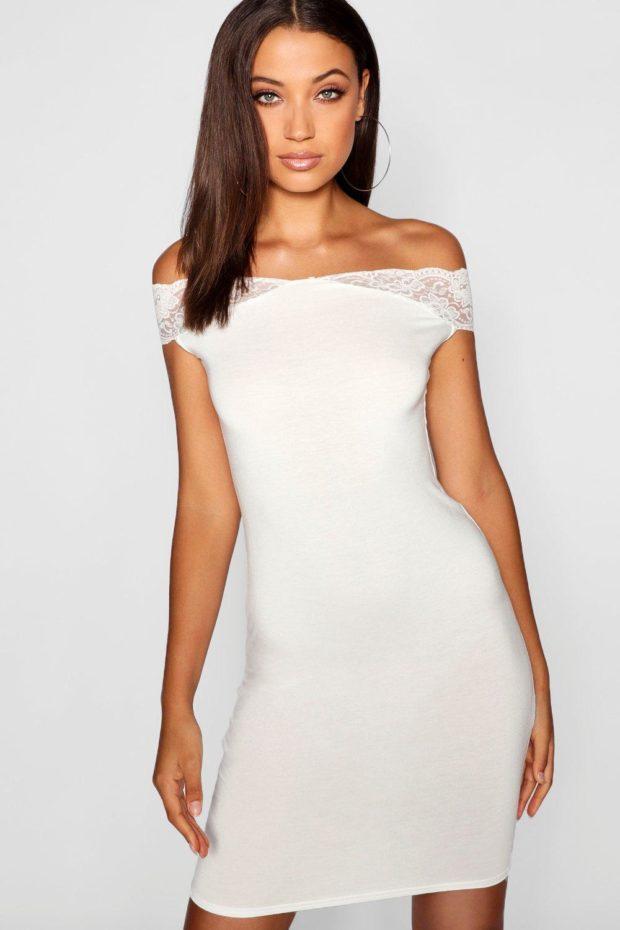 выпускное платье: белое кружево