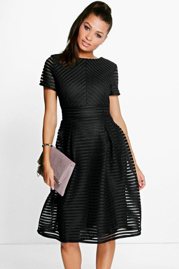 выпускное платье: черное ажурное