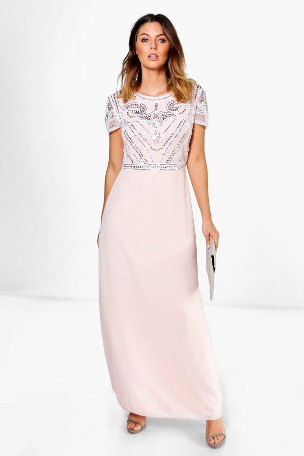 выпускное платье: длинное розовое