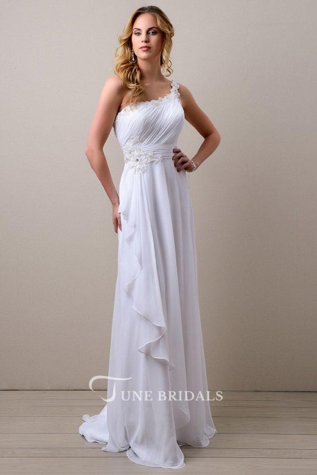 выпускное платье: белое греческое