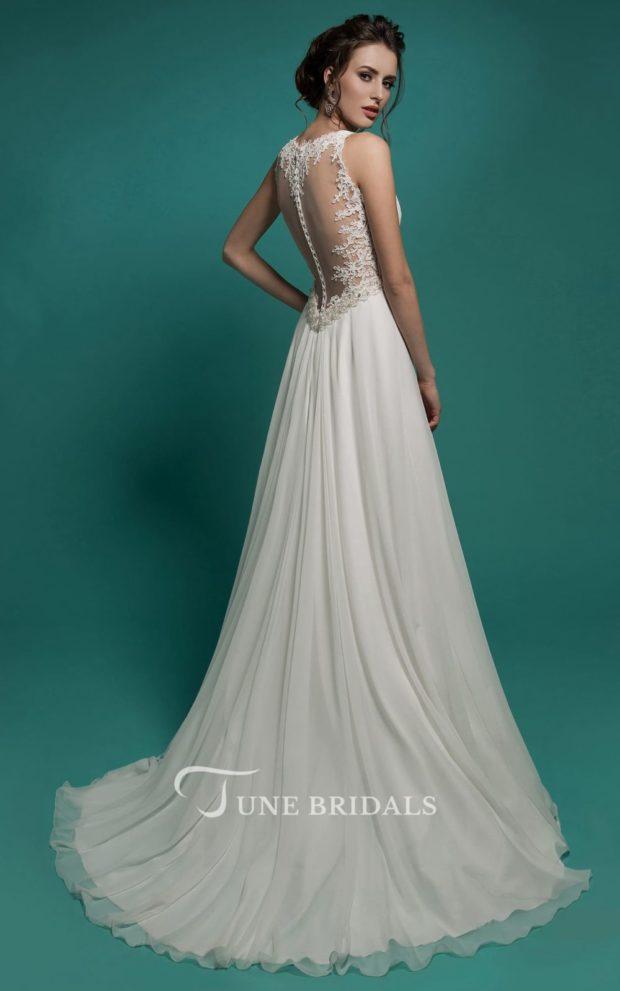 выпускное платье: белое греческое вид сзади