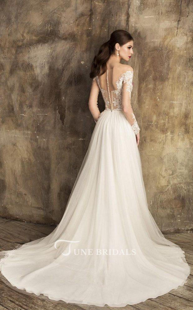 выпускное платье: белое греческое длинное вид сзади