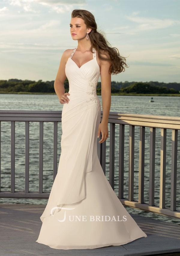 выпускное платье: розовое греческое длинное