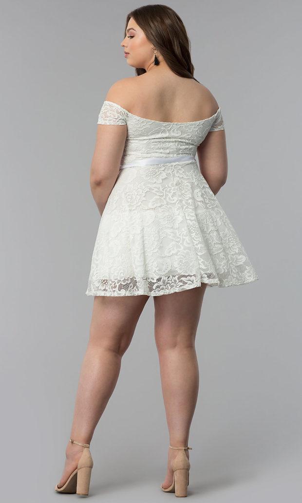 белое выше колена вид сзади