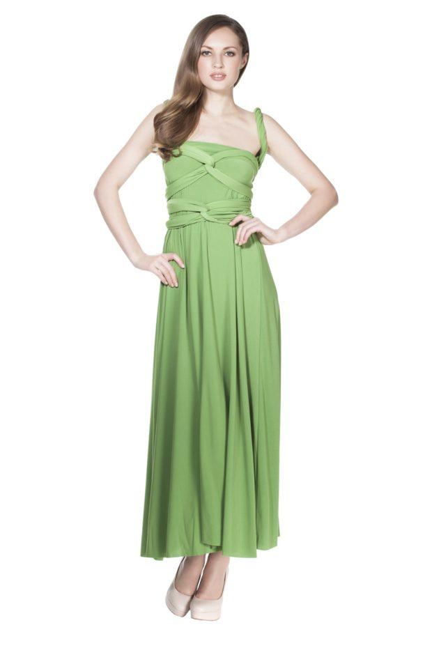 платье на выпускной: трансформер зеленое