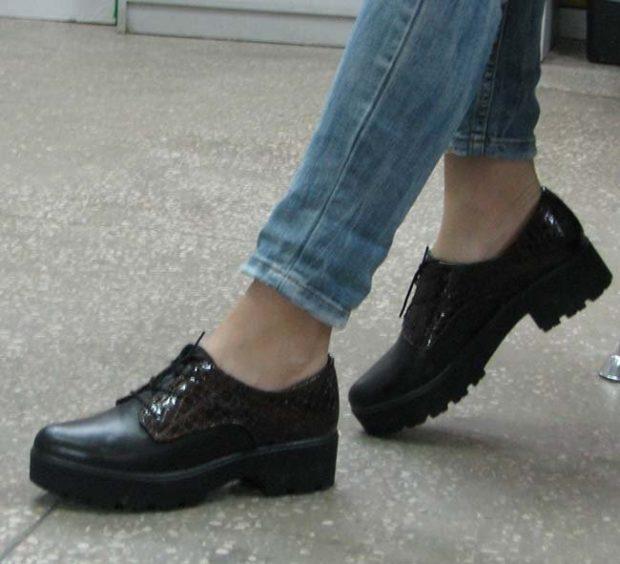 обувь на тракторной подошве с чем носить